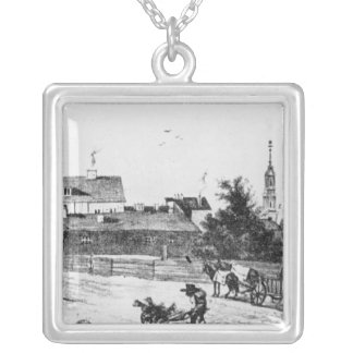 Lodging at the Rosenthaler gate Silver Plated Necklace