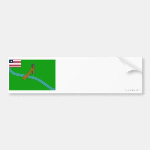 Lofa County Flag Bumper Stickers