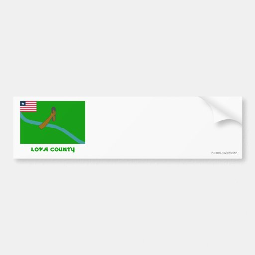 Lofa County Flag with Name Bumper Sticker