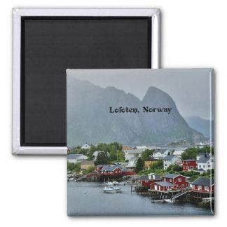 Lofoten, Norway scenic landscape photograph Square Magnet