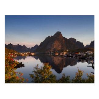Lofoten - Village of Reine postcard no text