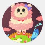 Lofty Ideals Round Stickers