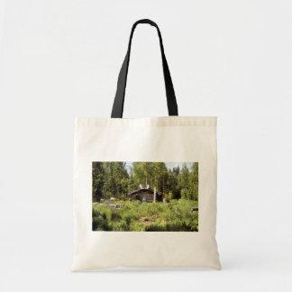 Log Cabin along the Nowitna River Bags