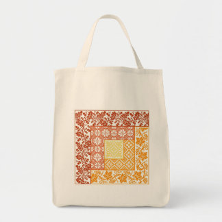 Log Cabin Autumn Grocery Tote Bag