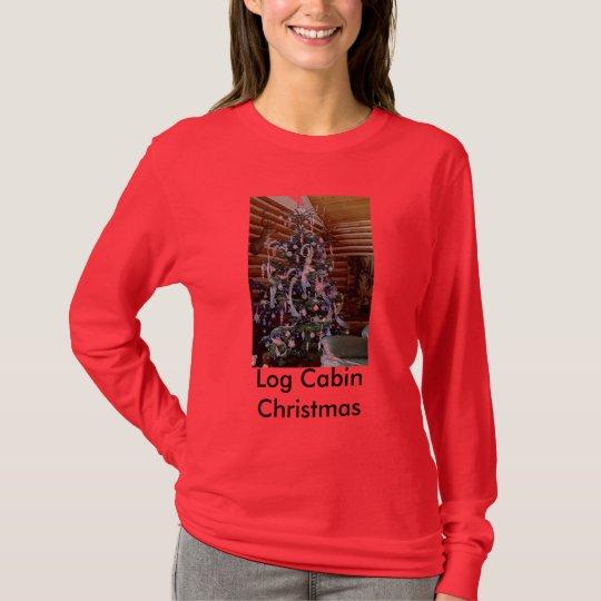 Log Cabin Christmas T-Shirt