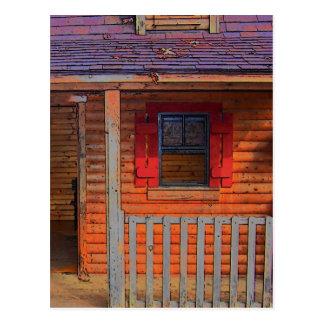 Log Cabin Home Postcard