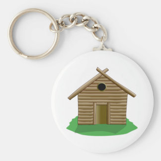 Log Cabin Key Ring