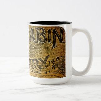 Log Cabin Library Two-Tone Mug