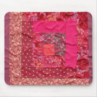log cabin quilt block mouse mat