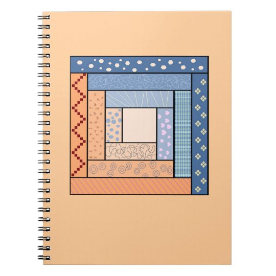 Log Cabin Quilt Notebook