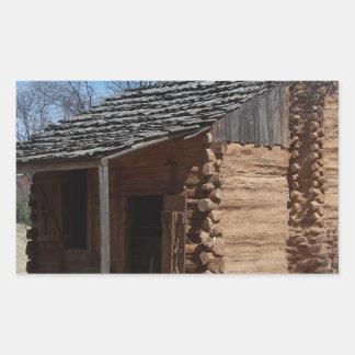 Log Cabin Rectangular Sticker