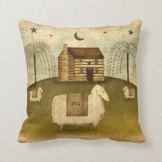 Log Cabin Sheep Cushion