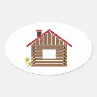 Log Cabin Sticker