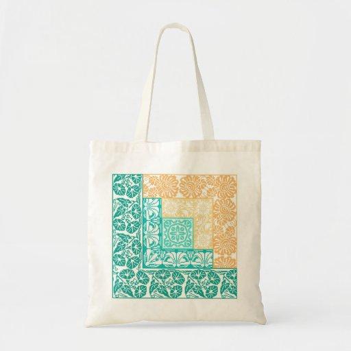Log Cabin Summer Canvas Bags