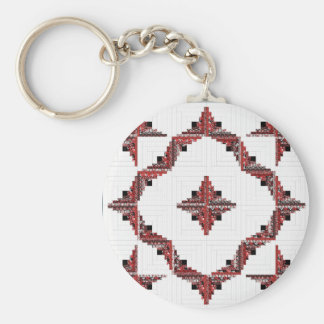 Log Cabin Variation Keychain
