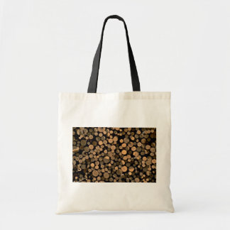 Log cord budget tote bag