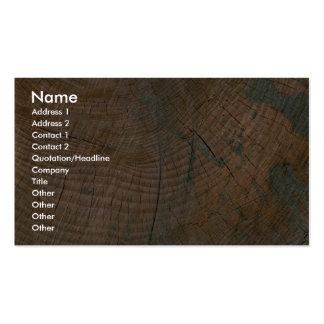 Log, grain business card template