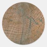 Log, grain round sticker