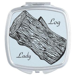 Log Lady Beauty Compact Mirrors