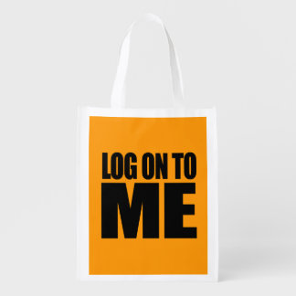 LOG ON TO ME - Halloween - png Market Tote