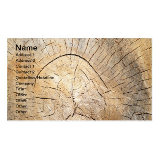 Log pattern pack of standard business cards