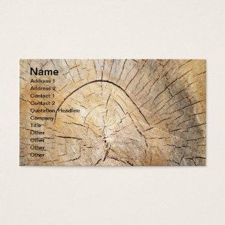 Log pattern business card
