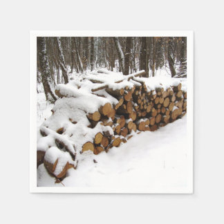 Log Pile in the Woods Paper Napkins