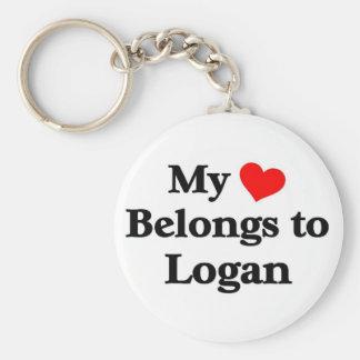 Logan has my heart keychain