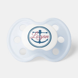 Logan Personalized Name Anchor Pacifier