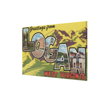 Logan, West Virginia - Large Letter Scenes Canvas Print