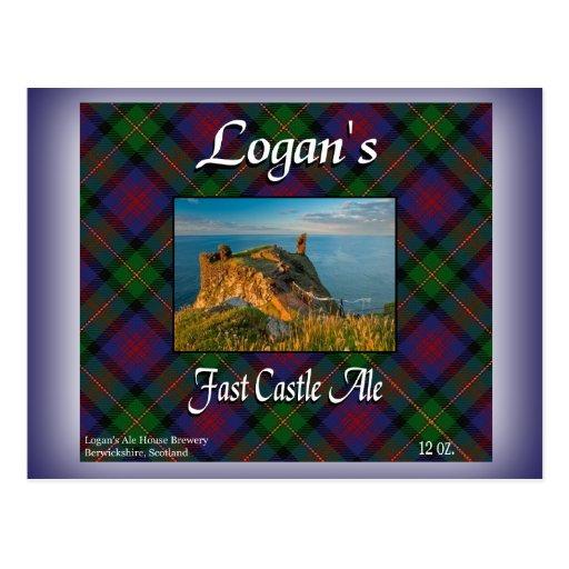 Logan's Fast Castle Ale Postcards