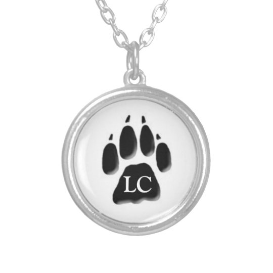 Logan's Paw Silver Plated Necklace