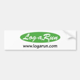 Logarun com Bumper Sticker