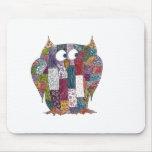 LogCabin Owl Mousemat