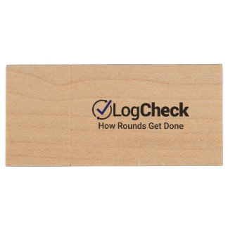 LogCheck 8GB USB Flash Drive - Maple Wood USB 2.0 Flash Drive