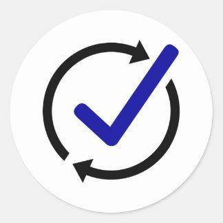 LogCheck Circular Sticker