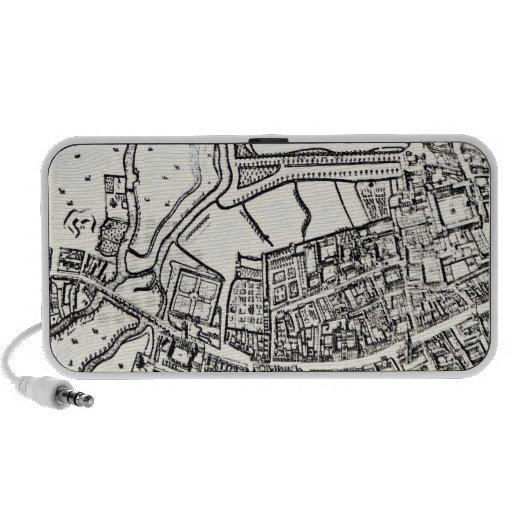 Loggan's map of Oxford, Eastern Sheet Travelling Speakers