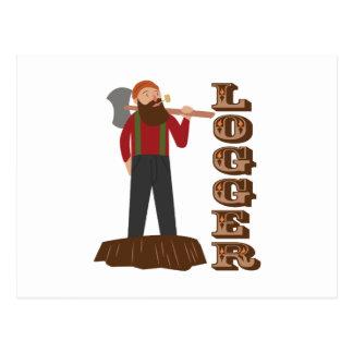 Logger Man Postcard