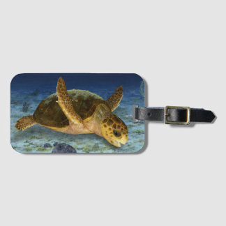 Loggerhead Sea Turtle in Habitat Luggage Tag