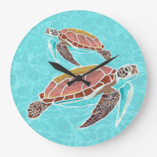 Loggerhead Sea Turtle Wall Clock