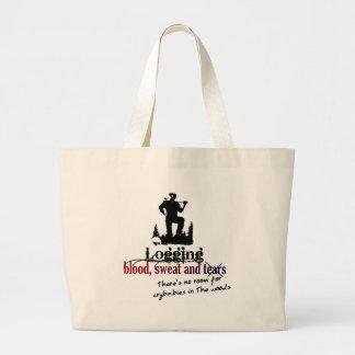 Logging - Blood, Sweat & Tears Jumbo Tote Bag