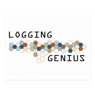 Logging Genius Postcard