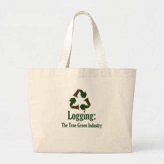 Logging: Green Industry Jumbo Tote Bag