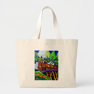 Logging Train Canvas Bag