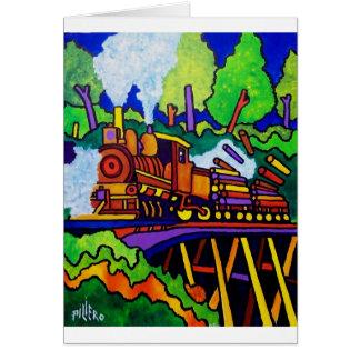 Logging Train Card