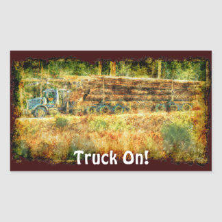 Logging Truck Big Rig Driver Sticker Series