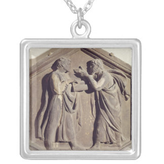 Logic and Dialectic Square Pendant Necklace