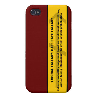 Logical Fallacy: Base Rate Fallacy iPhone 4 Covers