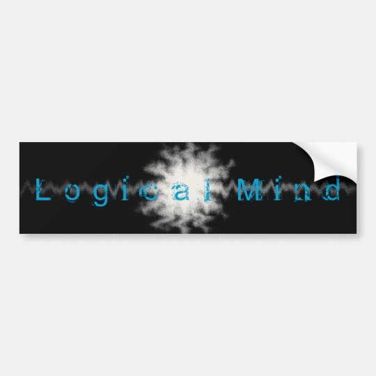 Logical Mind Bumpter Sticker