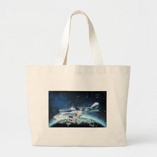 Logistics Globe Concept Large Tote Bag